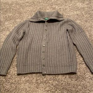 Benetton button down sweater